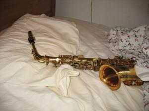 Mijn uitgetelde sax